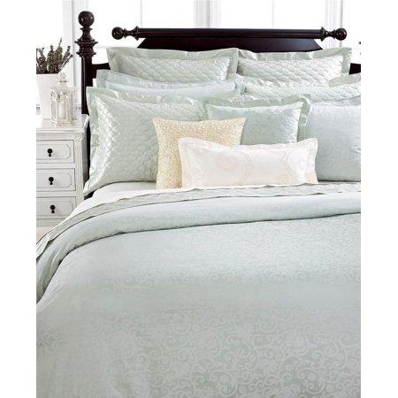 Martha Stewart TROUSSEAU CIRCA Green Sateen Jacquard Pillow Sham STANDARD ()