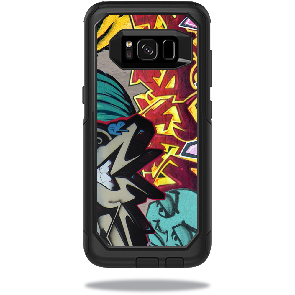 MightySkins Protective Vinyl Skin Decal for OtterBox CommuterSamsung Galaxy S8 Case sticker wrap cover sticker skins Graffiti Wild Styles