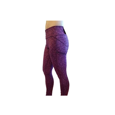 Jacquard Leggings - Z by Zobha Womens Size Small Outsider Jacquard Active Leggings, Beet Root Space Dye
