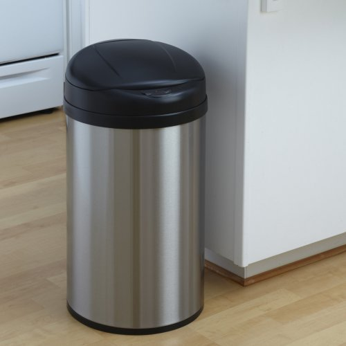 Nine Stars DZT-40-8 Touchless Stainless Steel 10.9 Gallon Trash Can