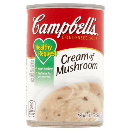 Campbell's Cream Of Mushroom Healthy Request Condensed Soup, 10.75 Oz