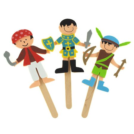 DIY Foam Character Stick Puppets - Storytime Legends (Diy Puppet Theater)