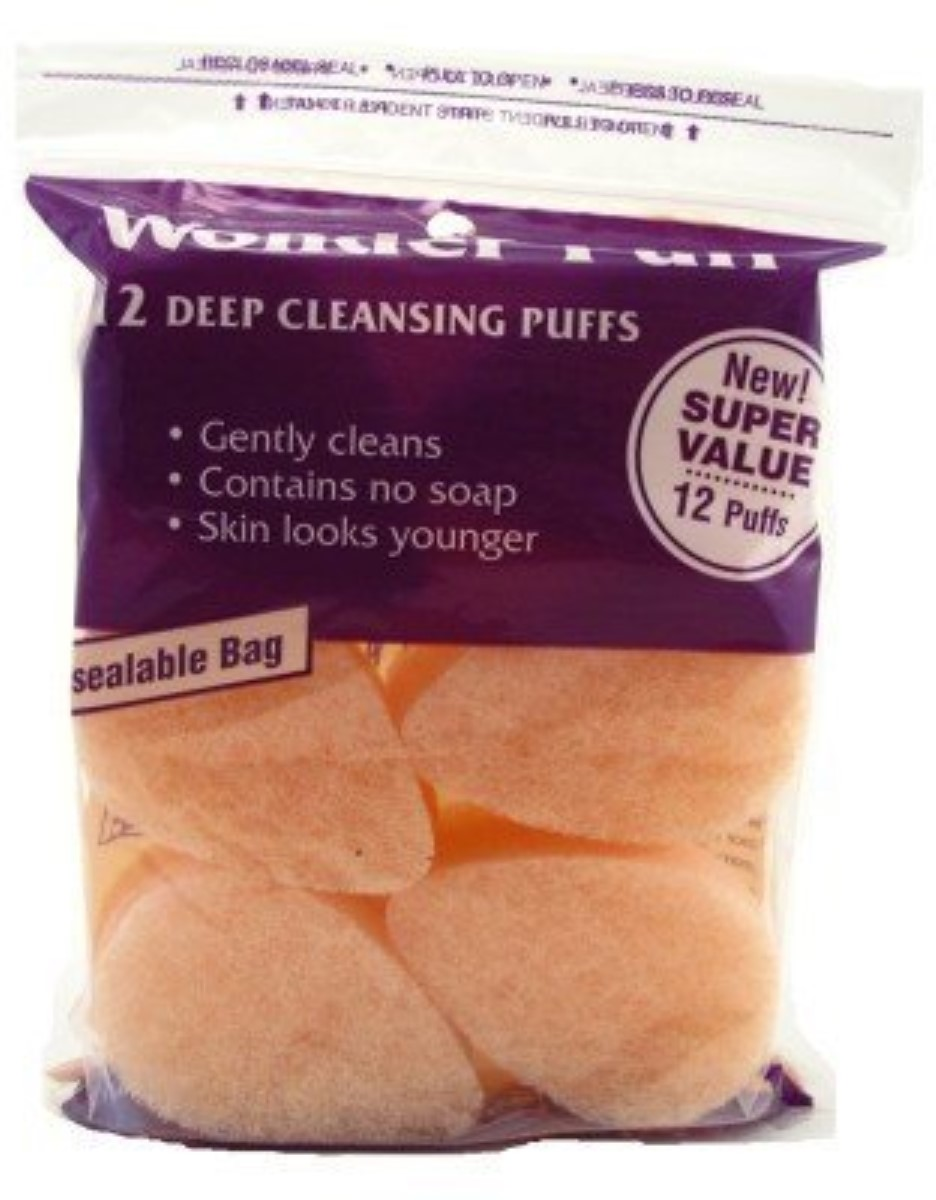 6 Pack - Wonder Puff Deep Cleansing Puffs 12 ea LOreal Paris Pure Clay Mask Exfoliate And Refine Pores