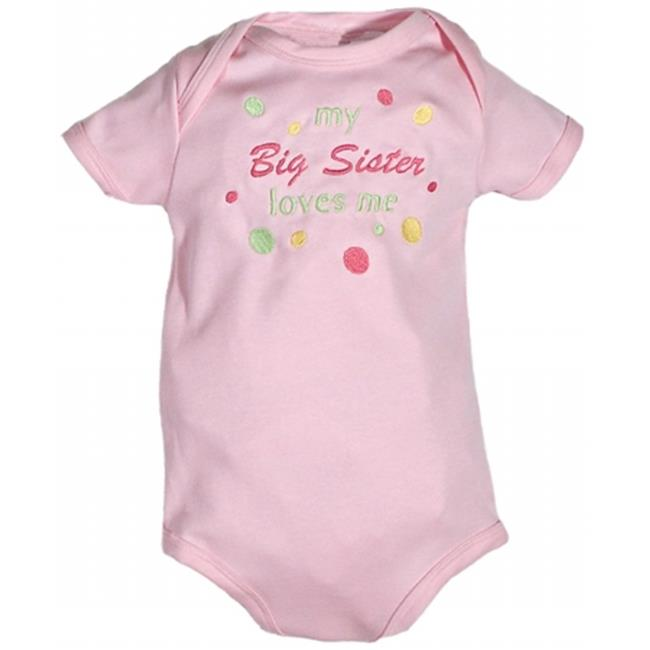 Raindrops 31463SN Raindrops  - my Big Sister loves me -  Embroidered Body Suit, Pink, size Newborn