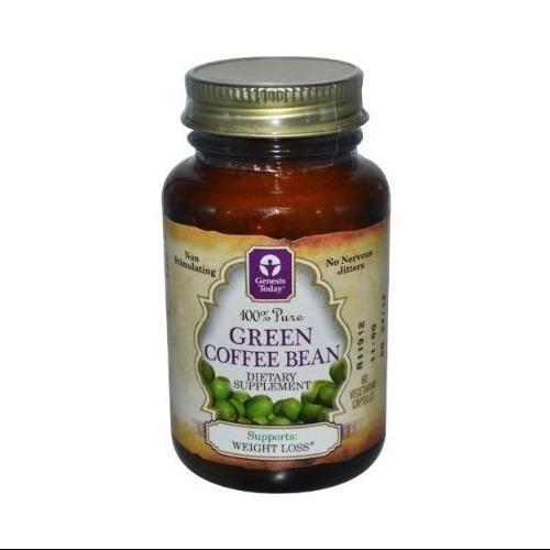 Genesis 100% Pure All Natural Green Coffee Bean Extract, 400mg, 180