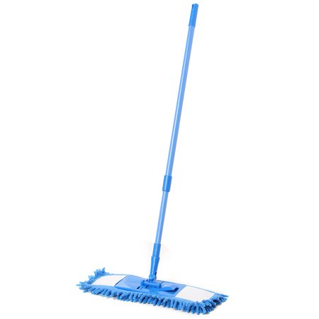Easy Clean Rose - Extendable Microfibre Floor Dust Mop Cleaner Sweeper ,Wooden Laminate Tile Wet Dry Telescoping Pole Floor Easy Clean Rotating Heads SPECIAL TODAY !