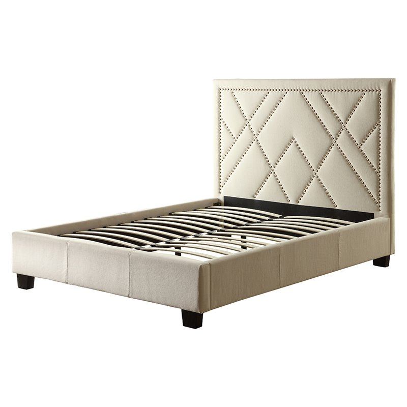 Modus Geneva Upholstered California King Platform Bed in Powder by
