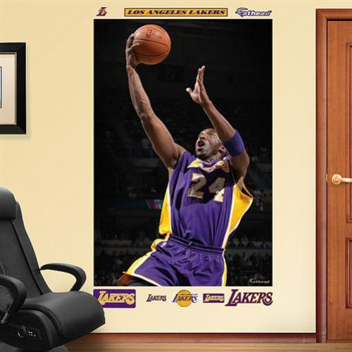 Fathead Los Angeles Lakers Kobe Bryant Mural Wall Graphic- - No Size
