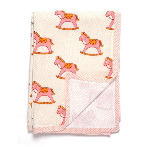 Darzzi Rocking Horse Baby Blanket