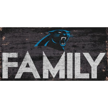 Carolina Panthers 6'' x 12'' Family Sign - No - Carolina Panthers Neon Sign