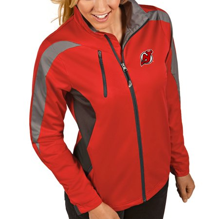 best loved 6a9e3 6d11c New Jersey Devils Antigua Women's Discover Performance Full-Zip Jacket - Red