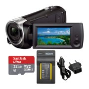 Sony HDRCX440 Handycam HD Camcorder with 32GB SD Card and Battery Bundle