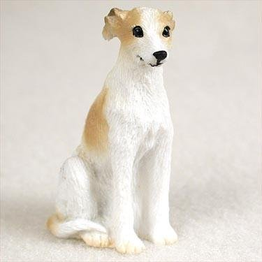 Whippet, Tan/White Tiny Ones Dog Figurines (2 1/2in), Each figurine is carefully hand painted for that extra bit of realism. By Conversation Concepts Ship from US