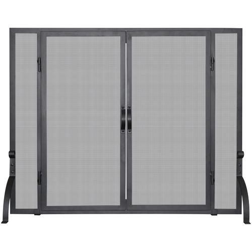 uniflame fireplace screen fold uniflame corporation single panel wrought iron fireplace screen