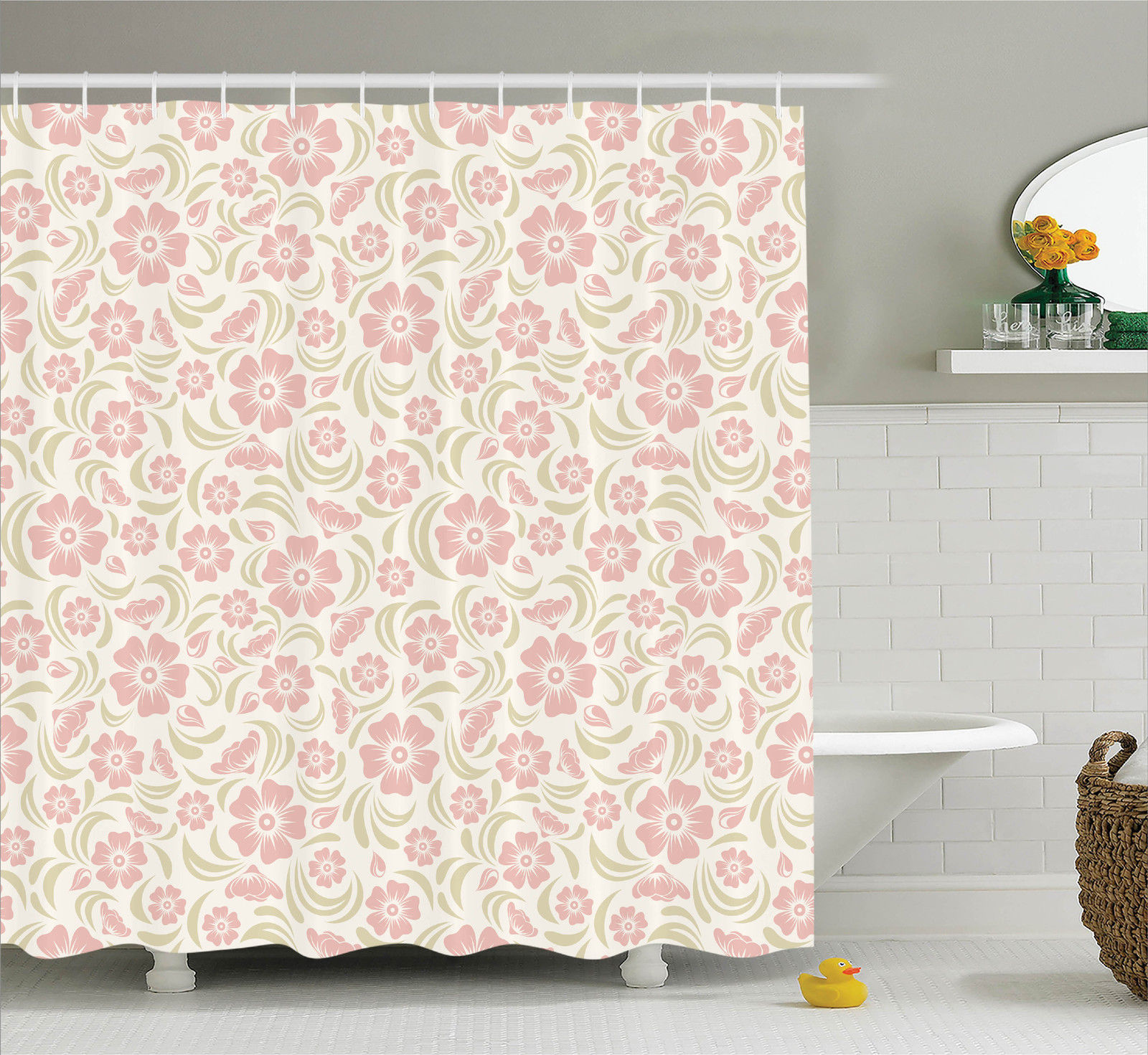 House Decor  Vintage Old Fashioned Floral Pattern Silhoue...
