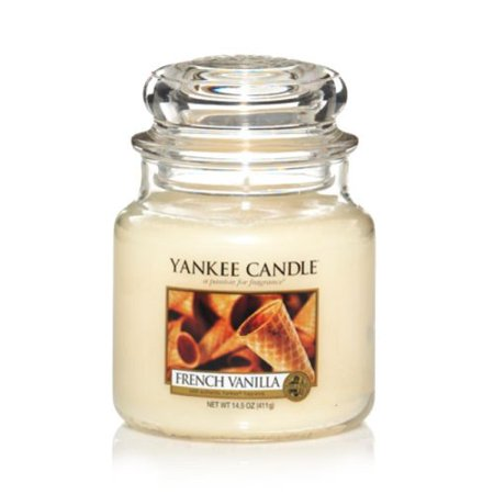 YANKEE CANDLE French Vanilla, Medium JAR, Cream 2 PACK COMBO - Product Is Brand New In Retail Packaging