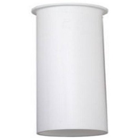 Image of 829-835 Flanged Kitchen Drain Tailpiece, White Plastic, 1.5 x 6-In. - Quantity 1
