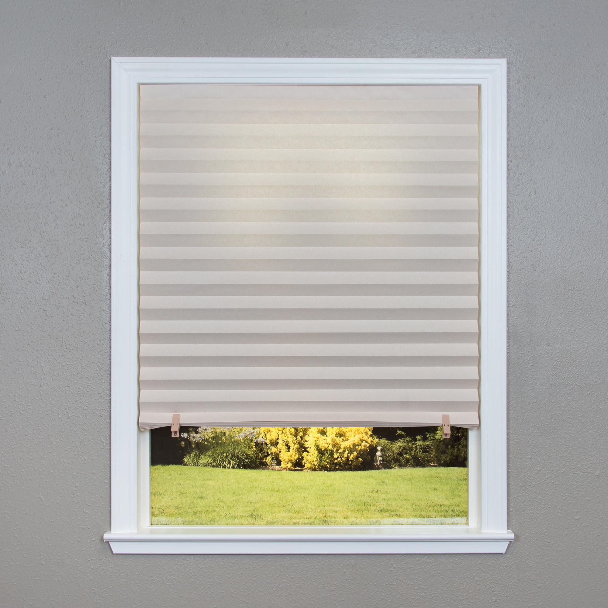 Original Light Filtering Pleated Paper Shade 6 Pack Walmart Com Walmart Com