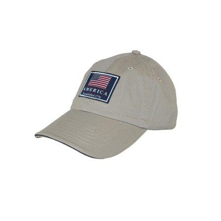 Dorfman Pacific Cotton Classic American Flag USA Baseball Cap, Size:  one size