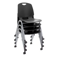 Academic Mobile Stack Chair -Black