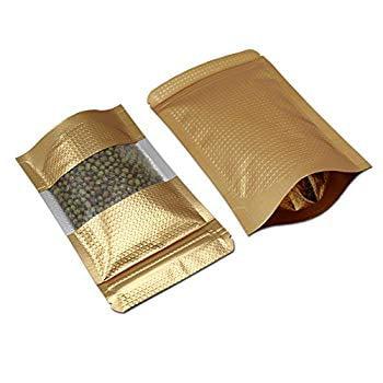 100PCS Self Seal Aluminum Mylar Foil Zip Lock Bags Food Storage Pouch Packages