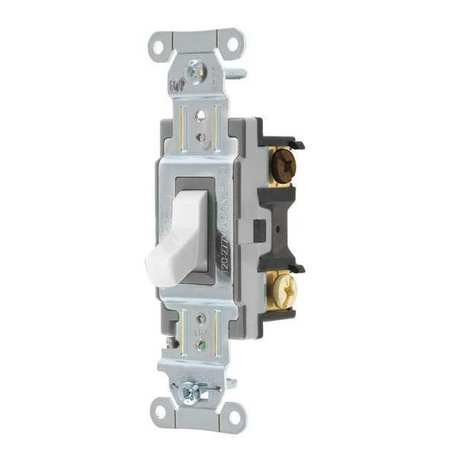 HUBBELL WIRING DEVICE-KELLEMS CSB315W Wall Switch,15A,Wht,1/2 HP,3-Way (3 Way Wall Switch Wiring)