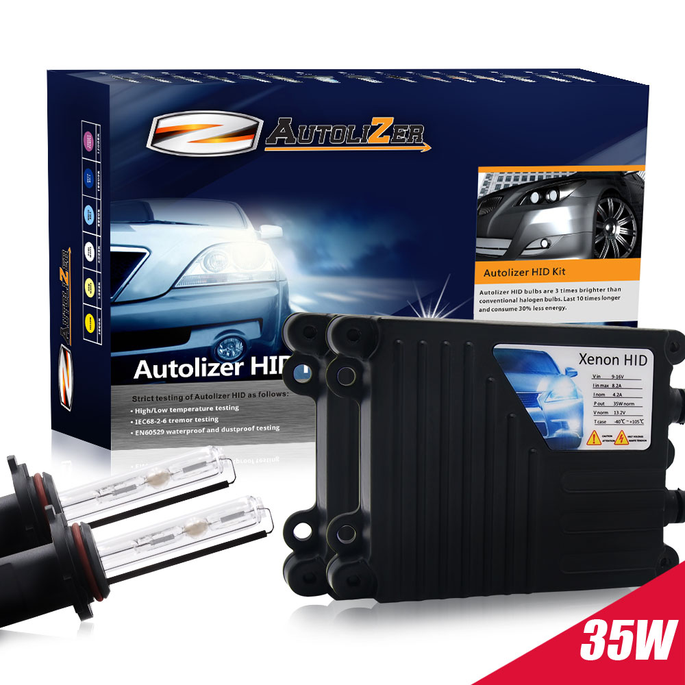 Autolizer 35W HID Xenon Conversion Kit with Premium Slim Ballast and Bulb - H1 3000K, 3K - Golden Yellow