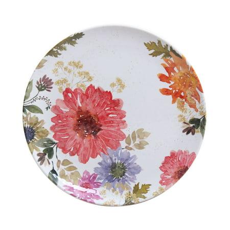 Better Homes & Gardens Outdoor Melamine Floral Salad Plate, Set of (9 Melamine Salad Plate)