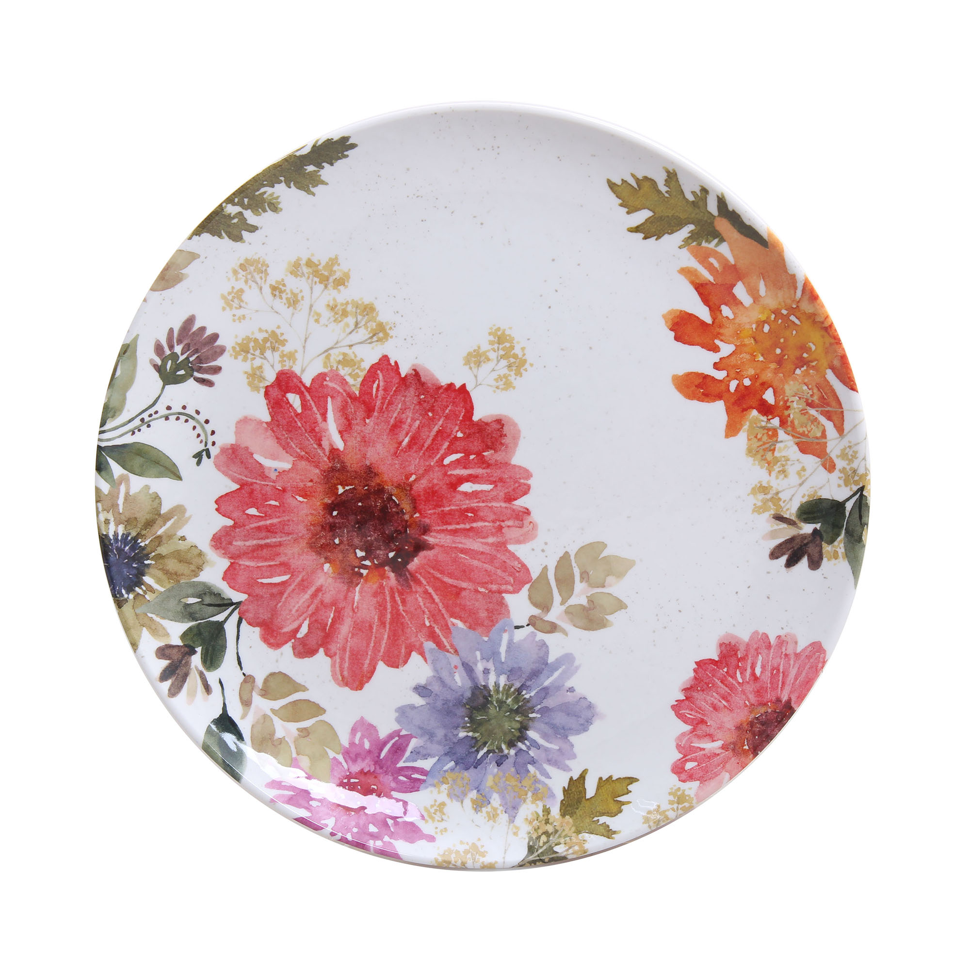 Better Homes & Gardens Floral Melamine Salad Plate, Set of 4