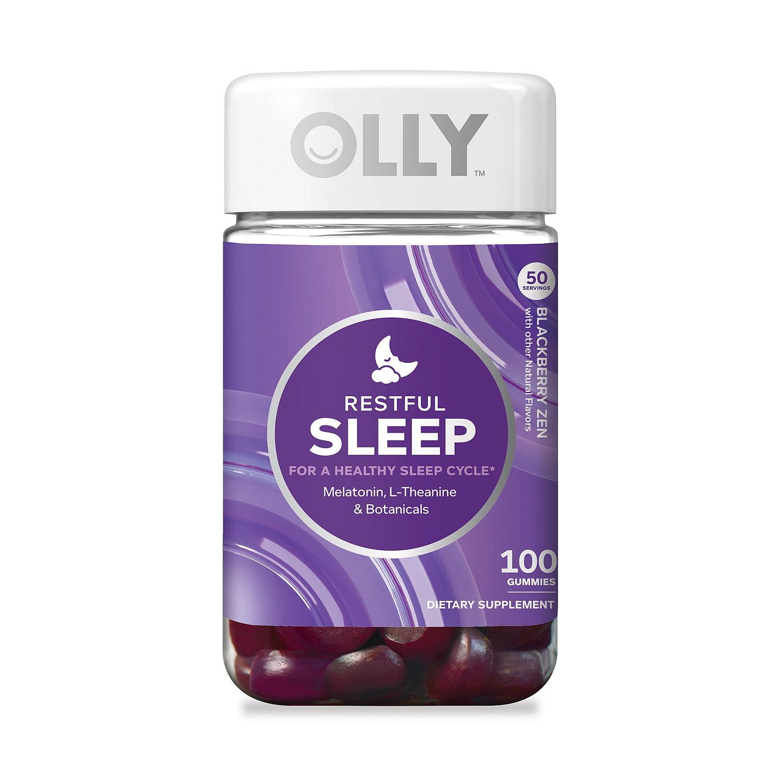 Olly Restful Sleep with Melatonin Gummies, Blackberry Zen, 100 Ct