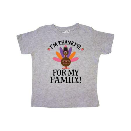 11ef4036 Inktastic - Thanksgiving Girl Turkey Thankful For Family Toddler T-Shirt -  Walmart.com