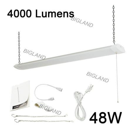 4 ft 48W LED Shop Light for Workbench, Basement, Garage 120W Equivalent Utility