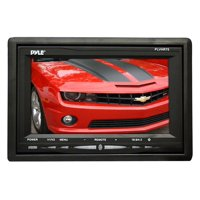 PYLE PLVHR75 - Headrest Monitor, 7-inch TFT LCD Widescreen w/ 2 Video Inputs, Wireless Remote, Cold Cathode Light, Headrest Shroud, Universal Stand Mount