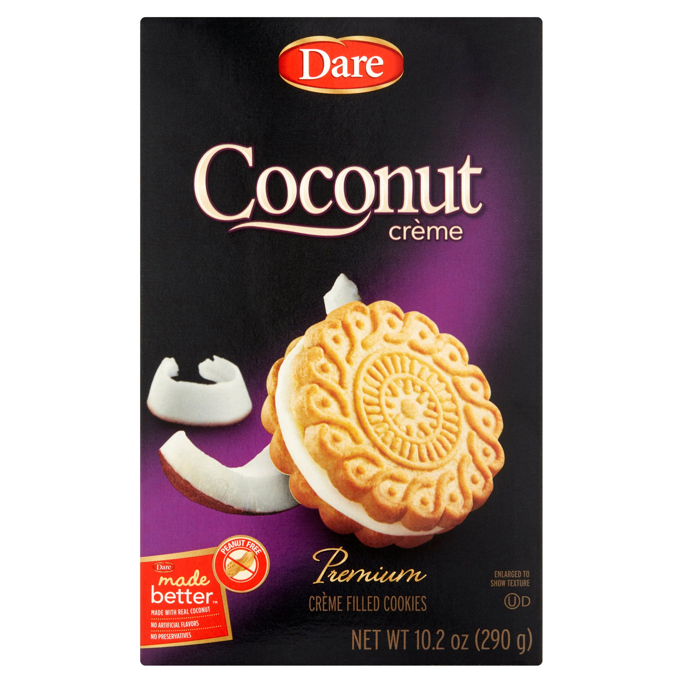 Dare Cookie Coconut Creme,10.2 Oz (Pack Of 12)
