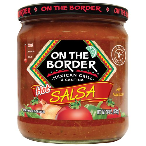On The Border Mexican Grill & Cantina Hot Salsa, 16 oz