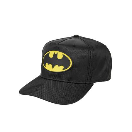 premium selection 6358f 464ee DC Comics Batman - Men s DC Comics Batman Ballistic Nylon Cap with Rubber  Weld Logo - Walmart.com