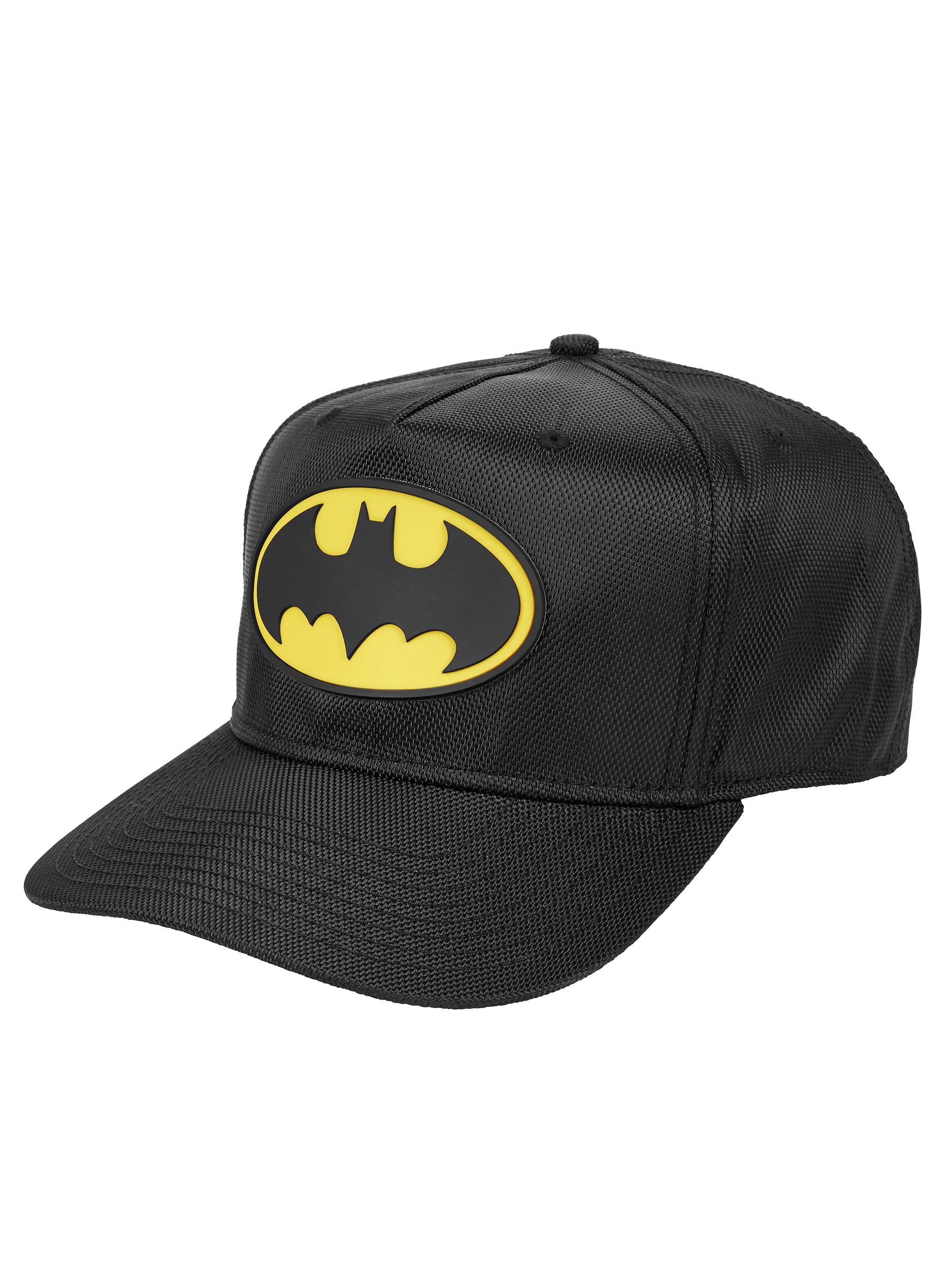 Men's DC Comics Batman Ballistic Nylon Cap with Rubber Weld Logo