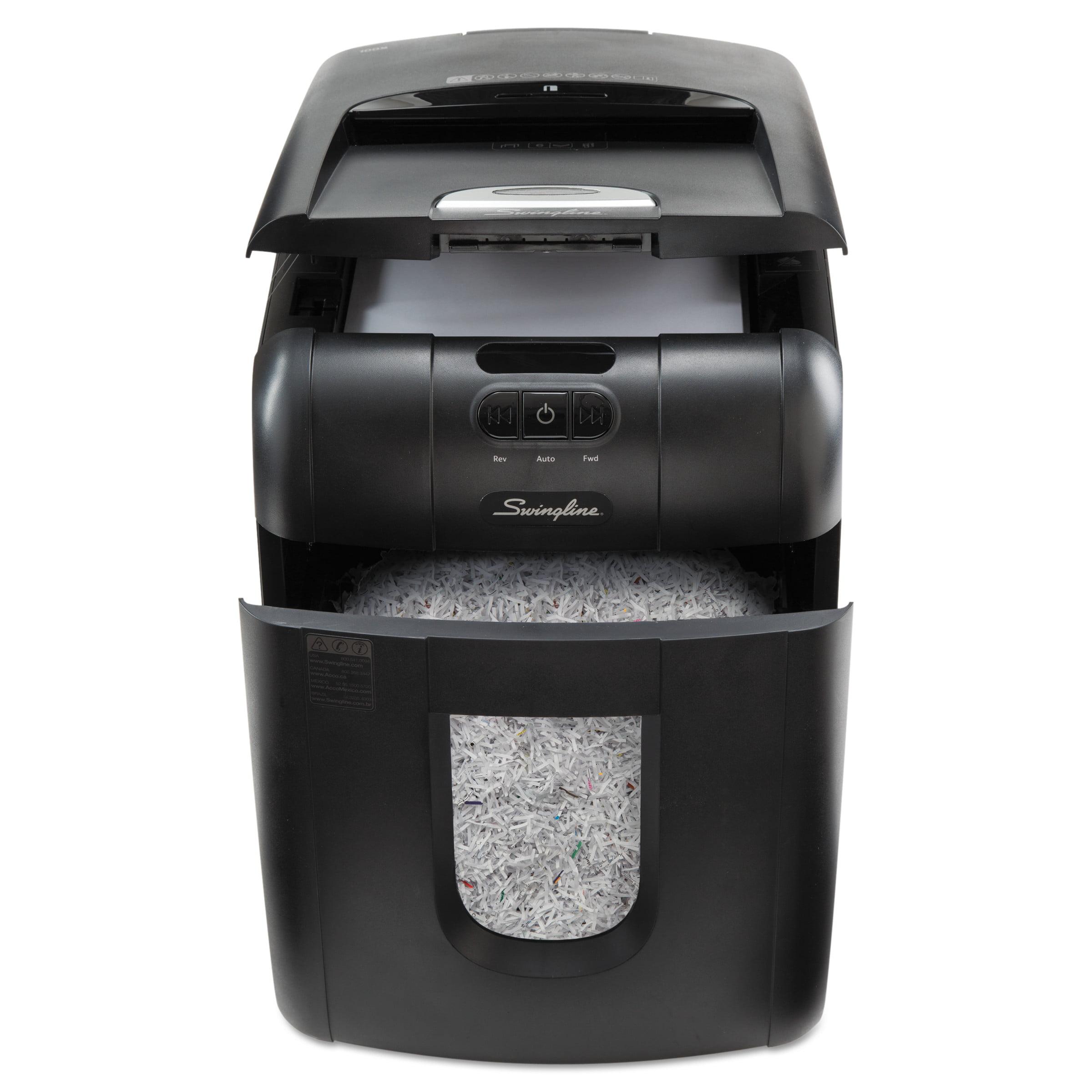 Swingline Stack-and-Shred 130M Auto Feed Micro-Cut Shredder, 130 Sheet Capacity -SWI1758571