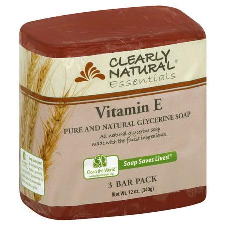Clearly Natural Bar Soap, Vitamin E, 12 Oz