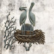 San Pacific International Crane Pair in Nest Outdoor Wall Art