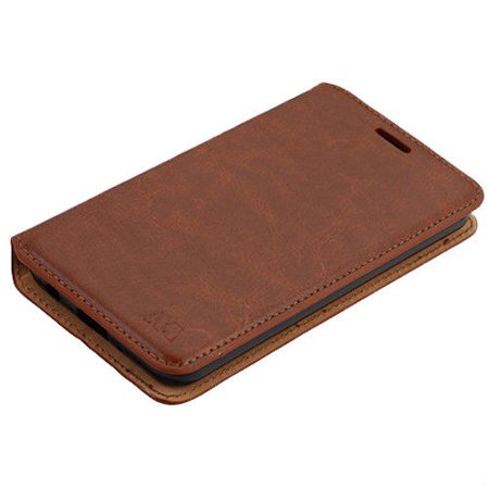 For LG Tribute Dynasty Premium Photo Leather Wallet Case Pouch Flap STAND Cover (Brown) Leather Photo Cover