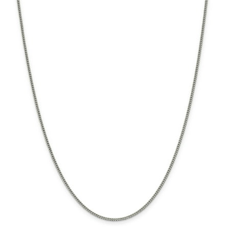 925 Sterling Silver 1.75mm Curb Chain 16 Inch - image 5 de 5