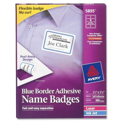 Avery Name Badge Label AVE5895