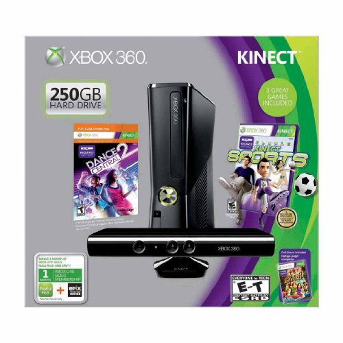 Refurbished Xbox 360 250GB With Kinect Holiday Value Bundle