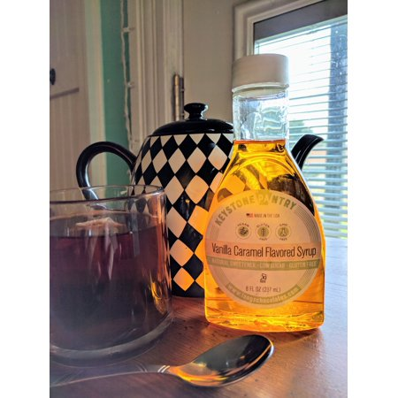 Keystone Pantry Vanilla Caramel Flavored syrup, sweetened with Allulose and Monk - Fruit Syrup Recipe