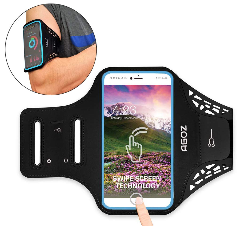 Armband Phone Case Sports Gym Running Workout Exercise Water Resistant Multi-Functional Card Holder Key Bag for iPhone XS Max, XR, 8 Plus, 7 Plus, 6 Plus