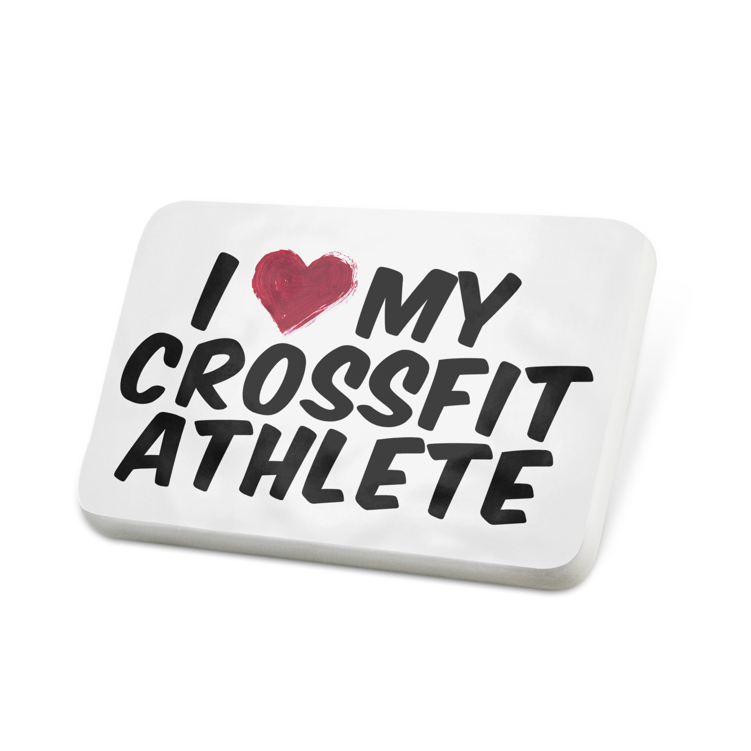 Porcelein Pin I heart love my CrossFit Athlete Lapel Badge – NEONBLOND