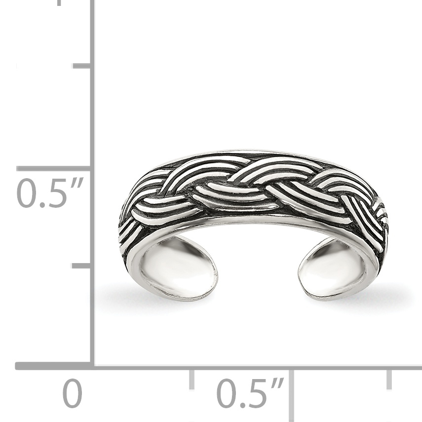925 Sterling Silver Adjustable Cute Toe Ring Set Fine Jewelry Gifts For Women For Her - image 1 de 2