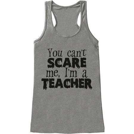 Custom Party Shop Womens I'm a Teacher Halloween Tank Top - (I'm Having A Halloween Party)
