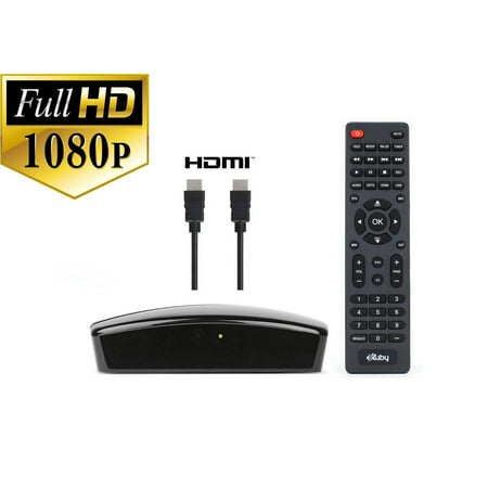 Digital Converter Box + HDMI Cable Bundle To View and Record Over The Air HD Channels For FREE (Instant or Scheduled Recording, 1080P HDTV, High Resolution, HDMI Output And 7 Day Program (Channel Guide For Over The Air Tv)